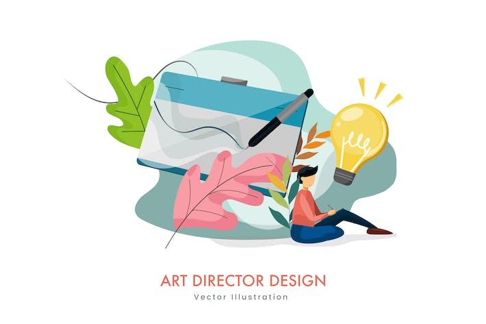 Thumbnail for Art Director Design Vektor illustration