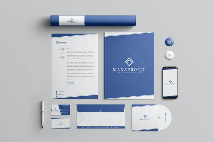 Thumbnail for Business Brand Identity & Stationery Pack