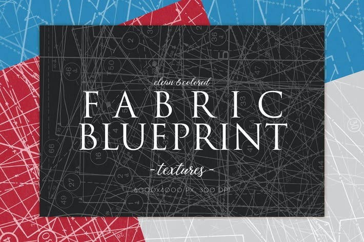 Clean Fabric Blueprint Textures