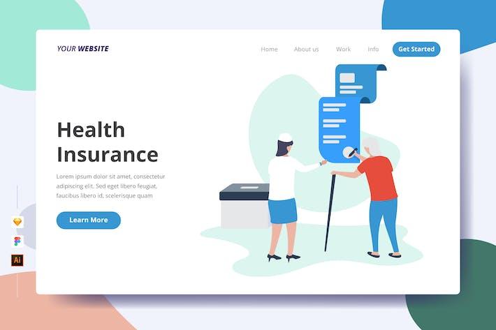 Assurance maladie - Page de destination