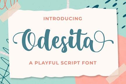 Odesita a Playful Business Script Font