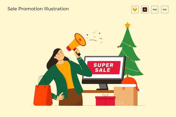 Thumbnail for Вектор иллюстрация продвижения продажи