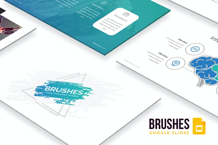 Thumbnail for Brushes Google Slides Template