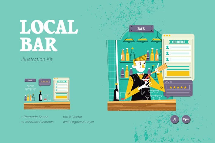 Thumbnail for Local Bar Graphics Illustration