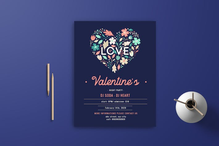 Thumbnail for Valentine Flyer Template 6