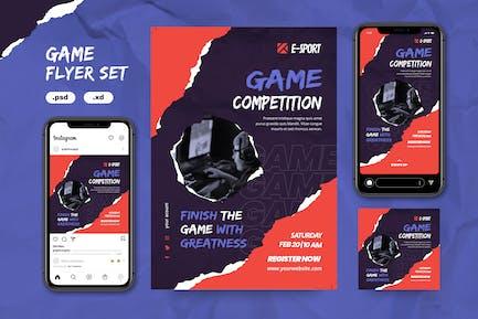 Spiele-Flyer-Set