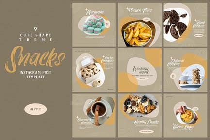 Cute Shape Theme - Snacks Instagram Post