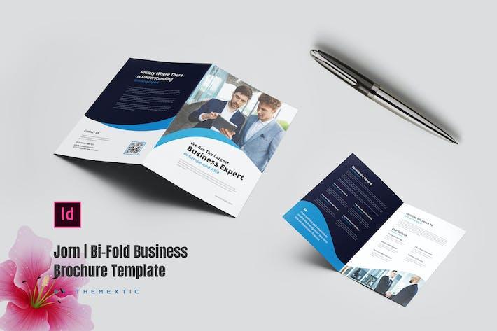 Thumbnail for Jorn   Bi-Fold Business Brochure Template