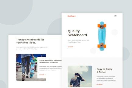 Skateboard - Email Newsletter