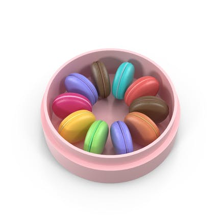 Caja Rosa con Macarons