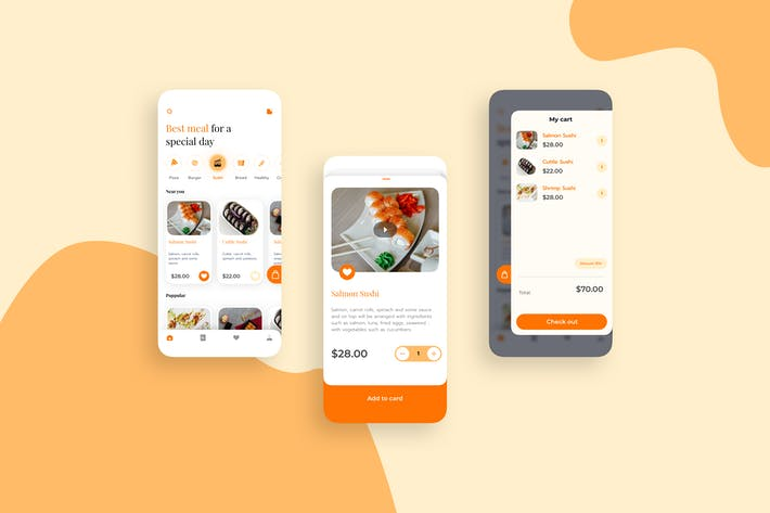 Thumbnail for Food And Deliverry UI Mobile Kit - TG