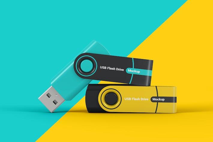 Thumbnail for Flash Memory Drive Mockup
