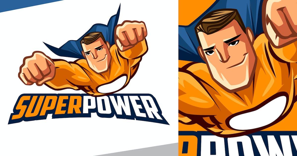 Download Smirking Superhero Mascot Logo by Suhandi