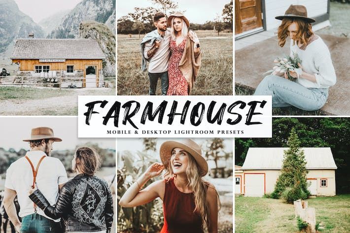 Thumbnail for Farmhouse Mobile & Desktop Lightroom Presets