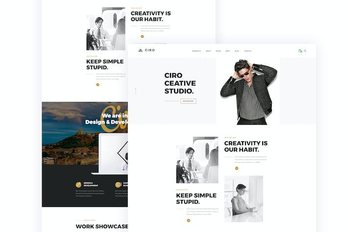 Thumbnail for Ciro - Creative Agency & Portfolio PSD Template