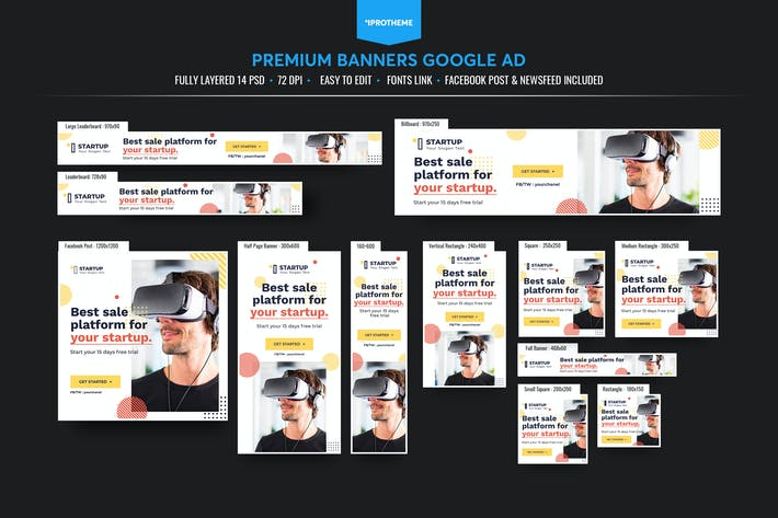Thumbnail for Corporate Banners Ads Template