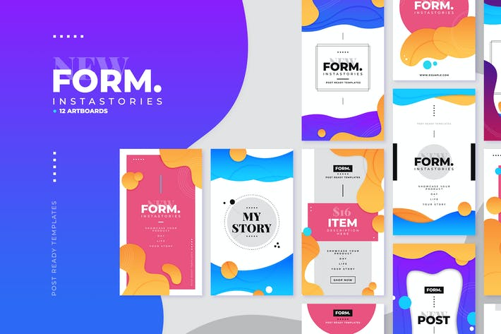 Thumbnail for Form Instagram Story Template Collection