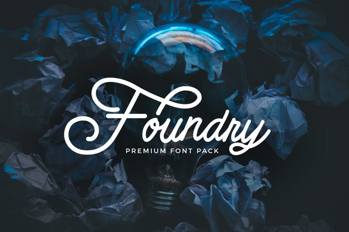 Thumbnail for Foundry - font pack
