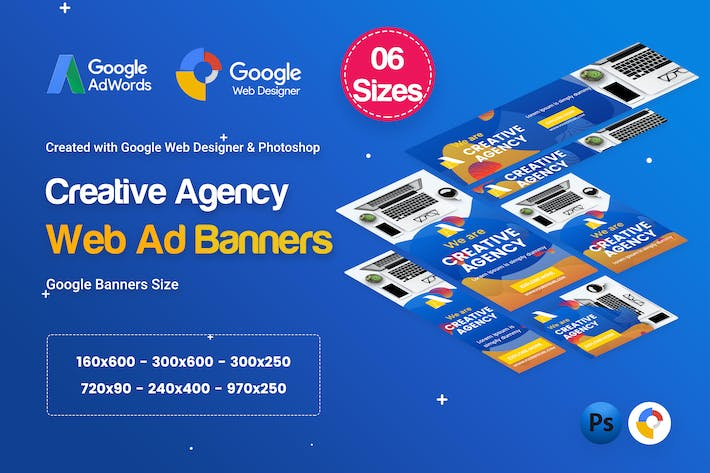 Thumbnail for Creative, Startup Agency Banners HTML5 D38