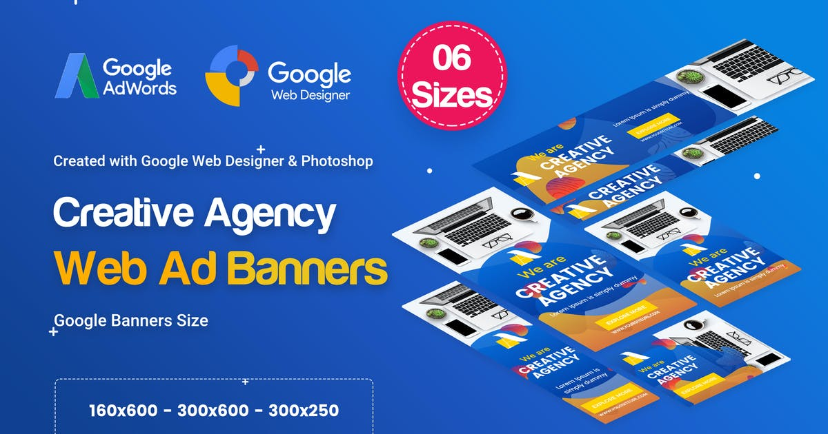 Download Creative, Startup Agency Banners HTML5 D38 by iDoodle