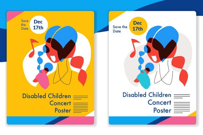 Thumbnail for Disability children music - style vector 9