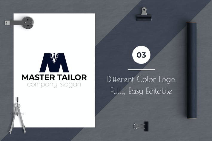 Thumbnail for Master Tailor Business Logo Template
