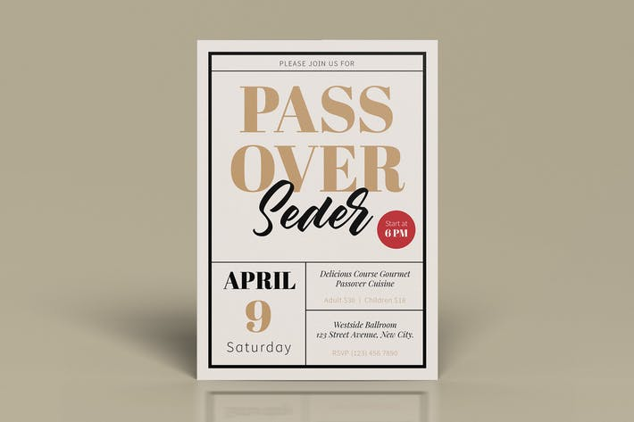 Thumbnail for Passover Seder flyers Template