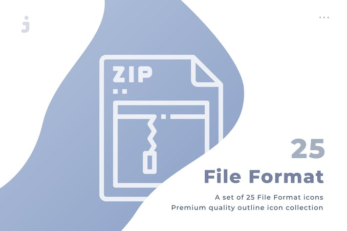Thumbnail for 25 File Format icon set