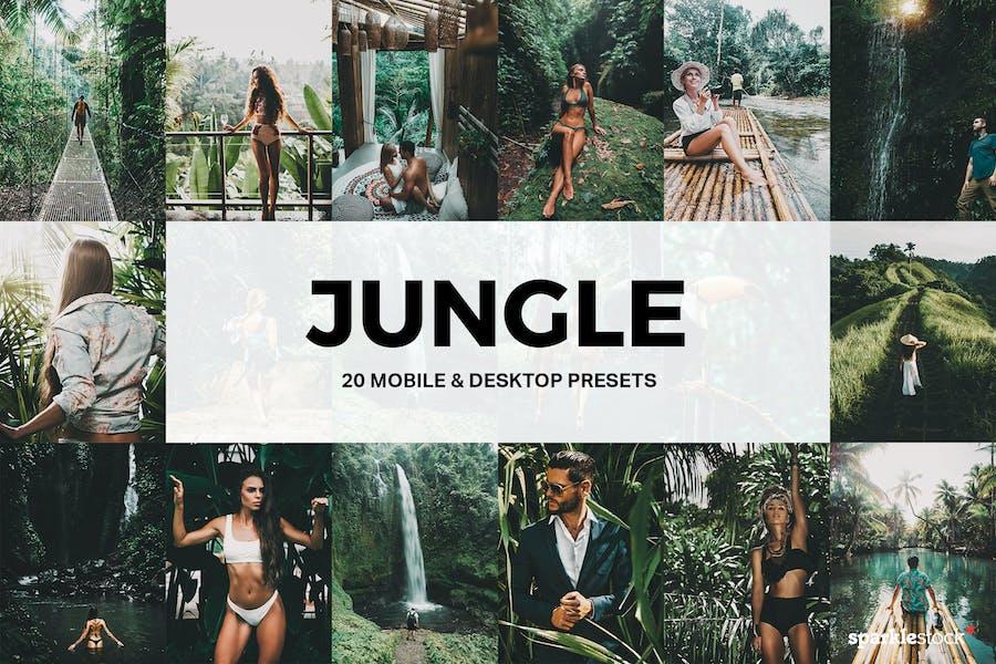 20 Jungle Lightroom Presets and LUTs