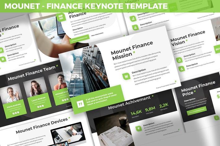 Thumbnail for Mounet - Finance Keynote Template