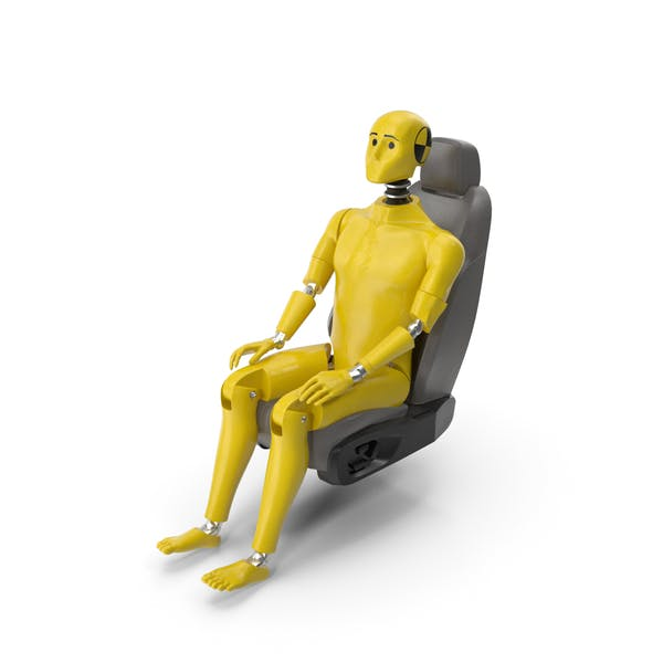 Crash Test Dummy in Car Seat