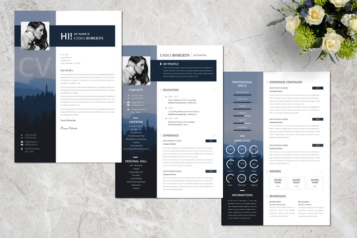 Thumbnail for Business Creative Resume Vol. 10