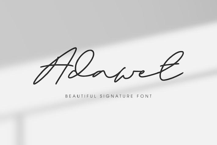 Thumbnail for Adawet - Beautiful Signature Font