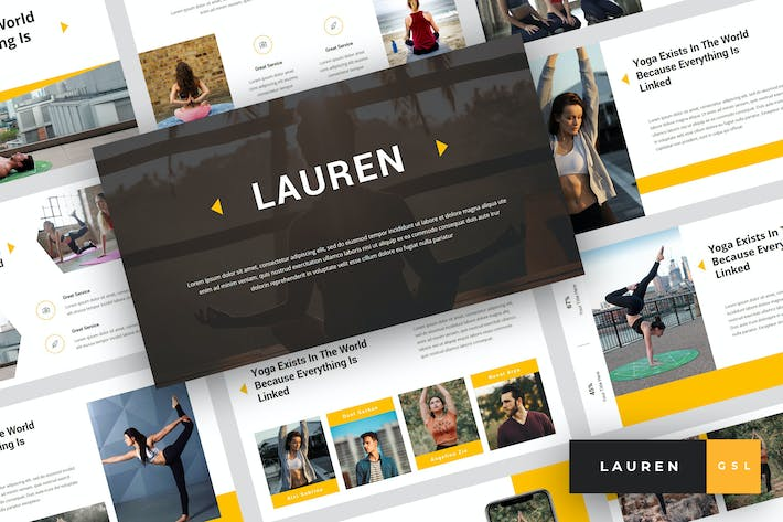 Thumbnail for Lauren - Yoga Google Slides Template