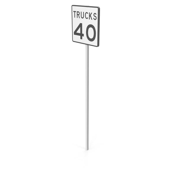 Thumbnail for Trucks Speed Limit Sign