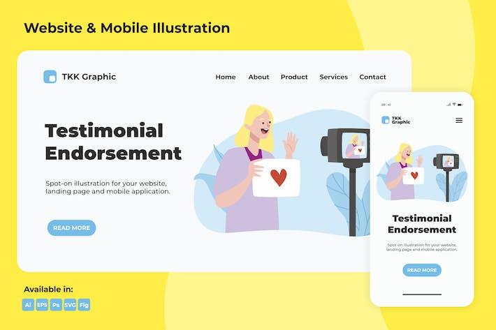 Thumbnail for Testimonial endorsement web and mobile