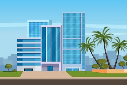 Ilustración de edificios de oficinas
