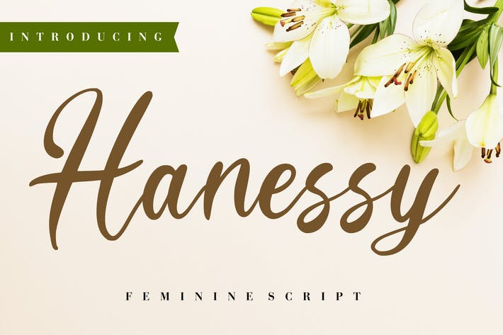 Thumbnail for Hanessy Feminine Script
