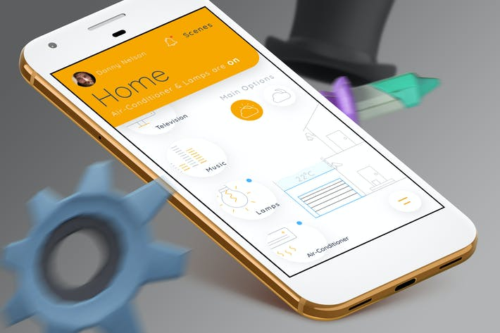 Thumbnail for Smart Home Mobile Ui 3 - TH