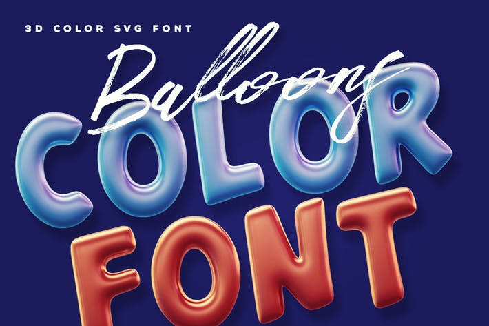 Balloons Color Font