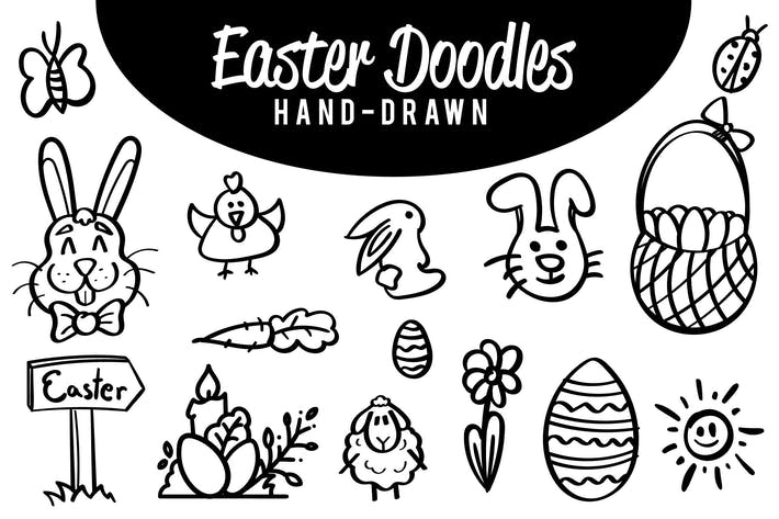 Thumbnail for Hand drawn Easter doodles