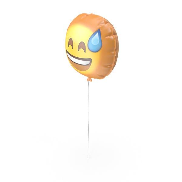 Sonriendo Con Sudor Emoji Globo