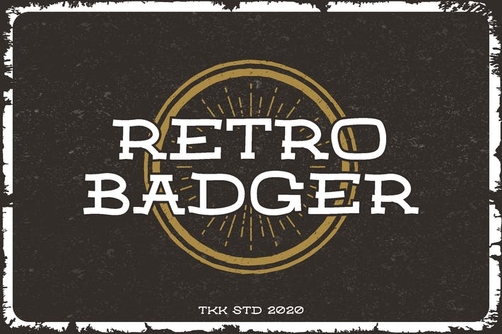 Thumbnail for Retro Badger - Classic Western Font
