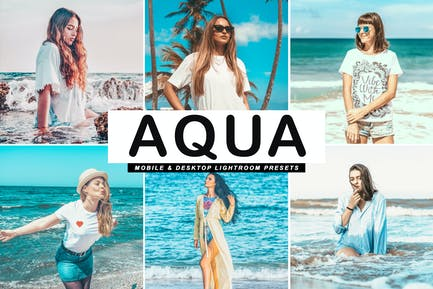 Aqua Mobile & Desktop Lightroom Presets