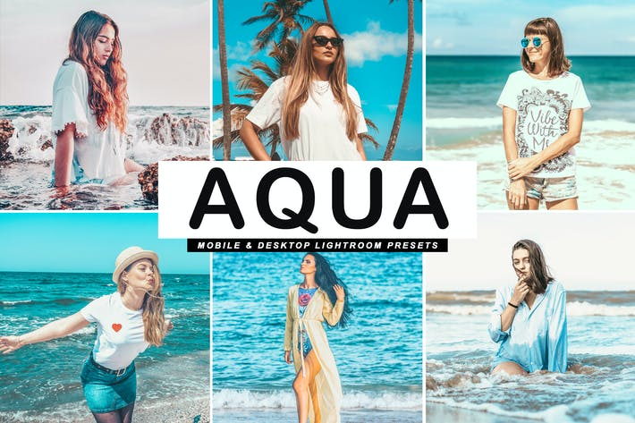 Thumbnail for Aqua Mobile & Desktop Lightroom Presets
