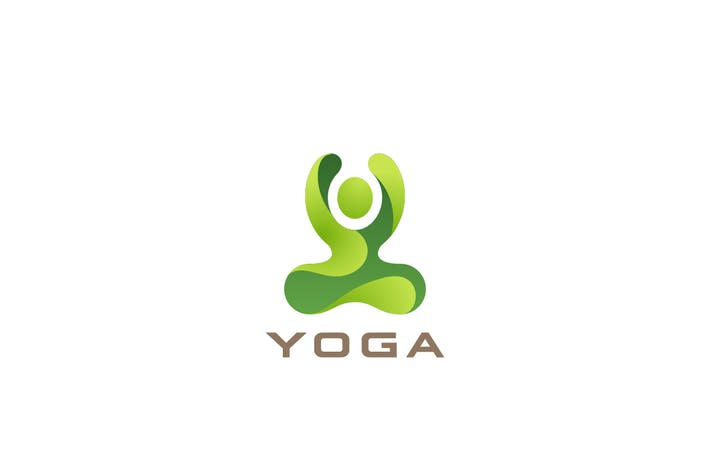 Thumbnail for Logo Yoga Lotus Pose Sport SPA