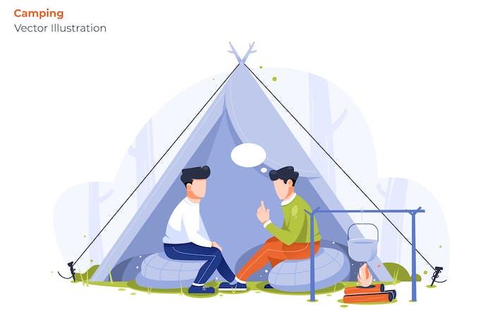 Thumbnail for Camping - Vector Illustration
