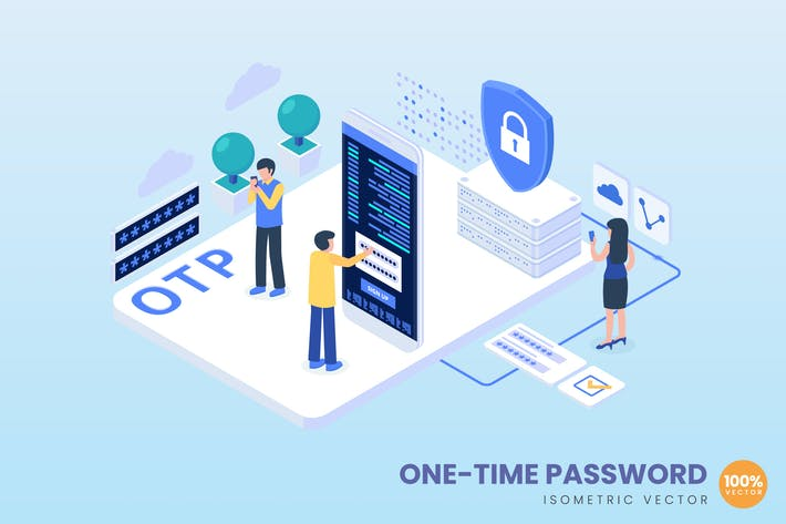 Isometric One Time Password Concept