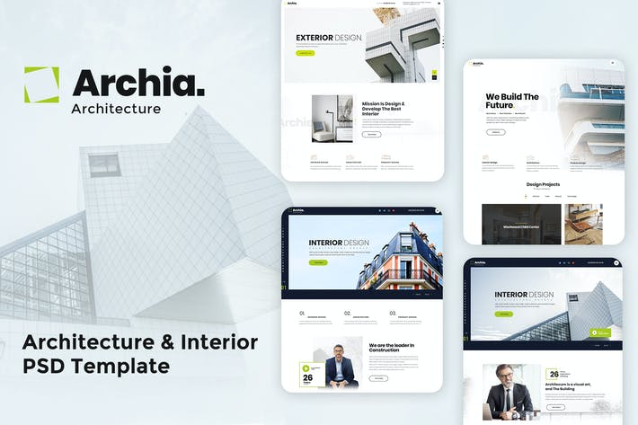 Thumbnail for Archia - Architecture & Interior PSD Template