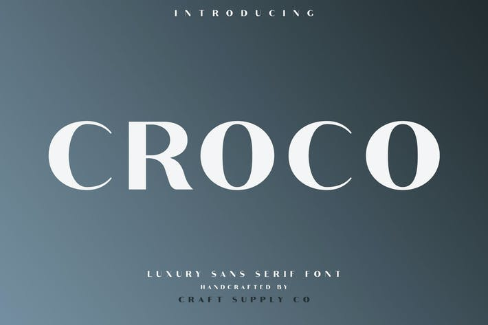 Thumbnail for Croco - Luxury Sans Serif Font